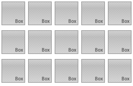 CSSでリストをグリッド状に並べる(完成品)