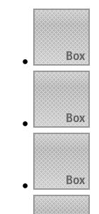 CSSでリストをグリッド状に並べる(CSS適用前)