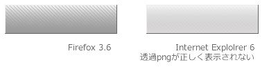 IE6は透過pngを正しく表示できない