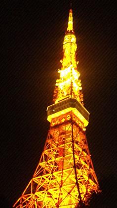東京タワー冬のライトアップ